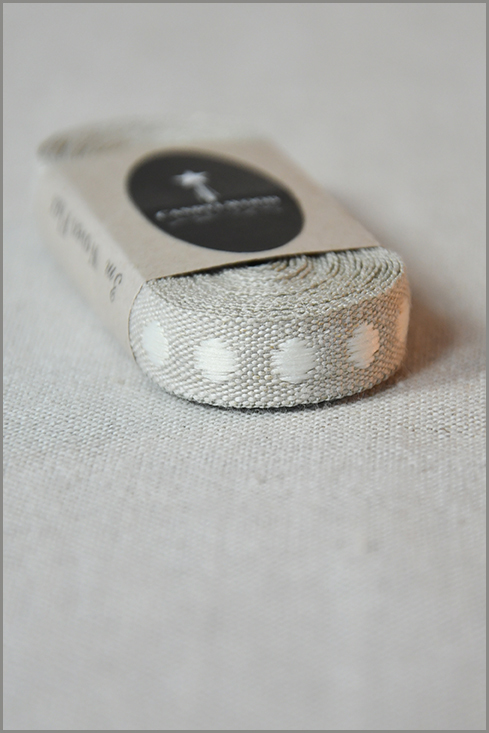 Cafe Latte - Woven Flax Ribbon 01184