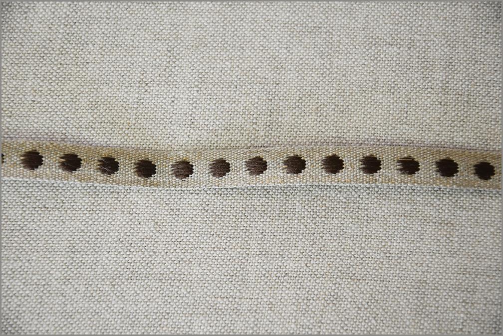 Espresso - Woven Flax Ribbon