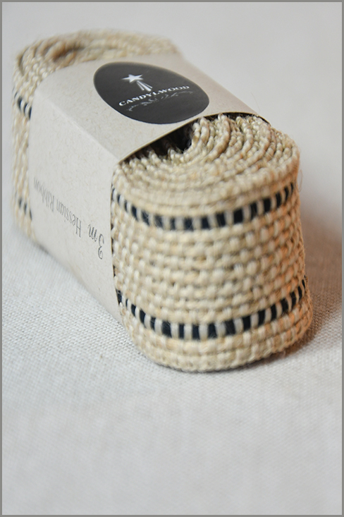 Rustic Black - Jute Ribbon 01215