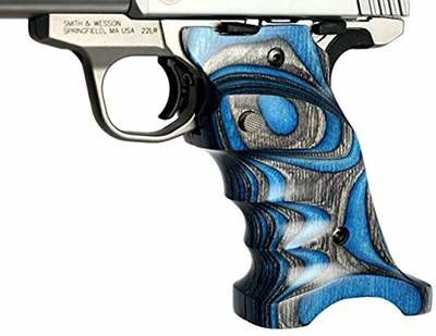 Volquartsen Laminated Wood Grips for the Smith & Wesson Victory .22, Blue, VCSWG-BL