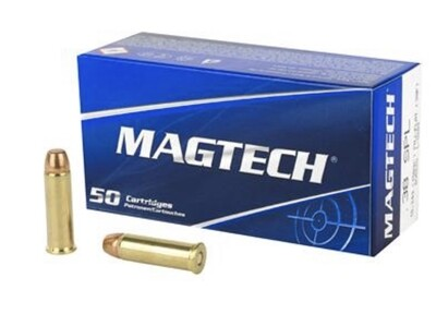 MAGTECH, SPORT SHOOTING, 38A .38 SPECIAL, 158 GRAIN, FULL METAL CASE FLAT, 50 ROUND BOX