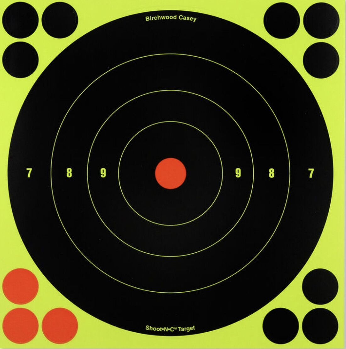 "Birchwood Casey Shoot-N-C Targets 8"" Round Bull's Eye"
