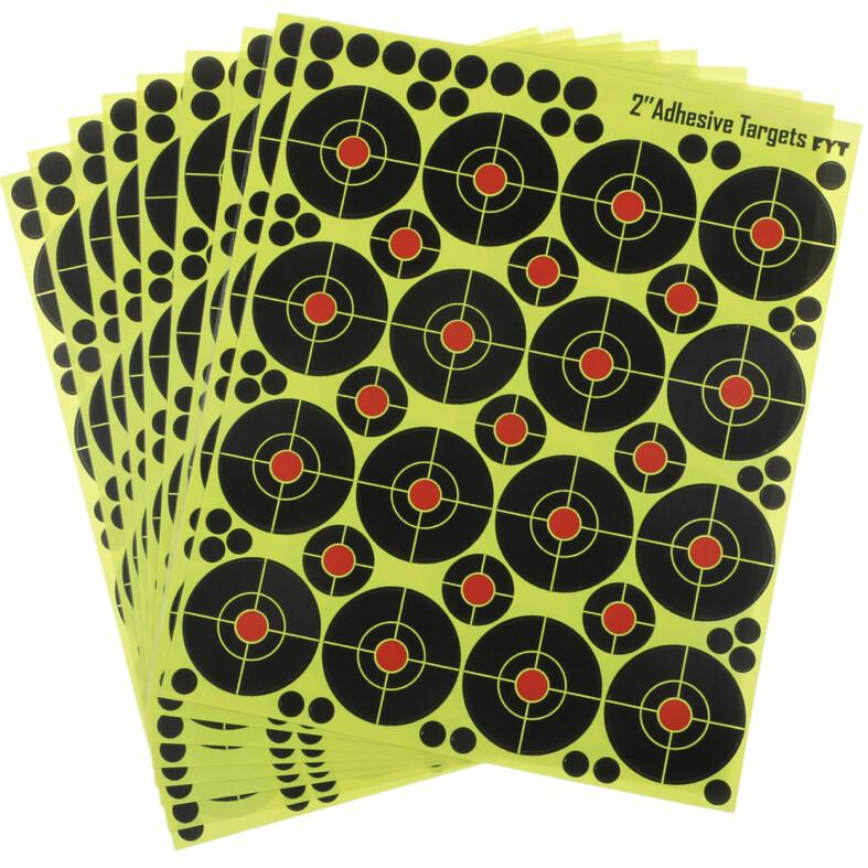 "160 pcs Shooting Targets 2"" Reactive Splatter Glow Florescent Paper Target"