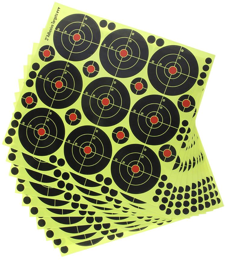 "90pcs 3"" Shooting Targets Reactive Splatter Paper Target"