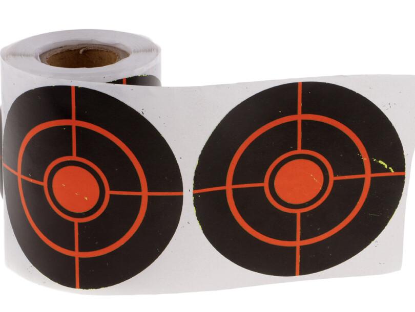 250 pcs 3inch  Shooting Splatter Paper Targets Reactive Adhesive Paper Targets