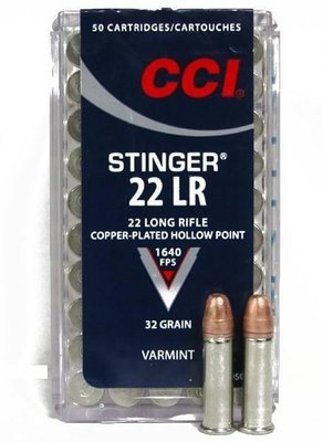 CCI 0050 22LR STINGER HP  Box of 50