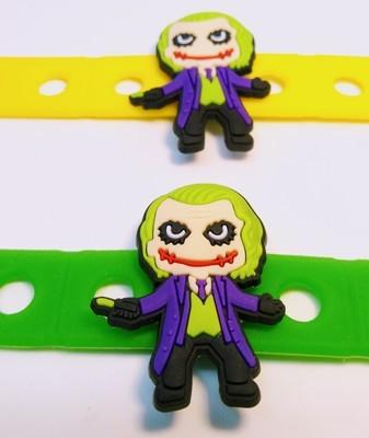 10 Braccialetti personalizzati Joker in 3D gomma silicone pvc morbido gadgets fine festa a tema compleanno bambini