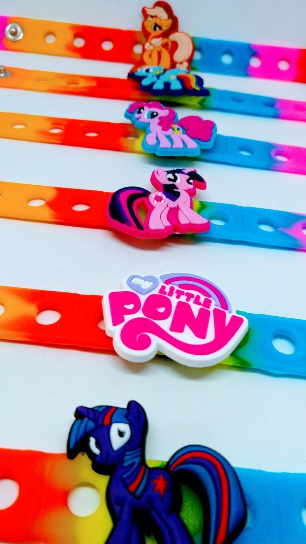 10 Braccialetti personalizzati My Little Pony in 3D gomma silicone pvc morbido gadgets fine festa a tema compleanno bambini