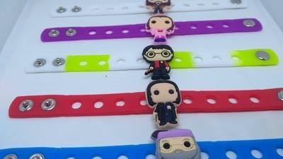 10 Braccialetti personalizzati Harry Potter in 3D gomma silicone pvc morbido gadgets fine festa a tema compleanno bambini
