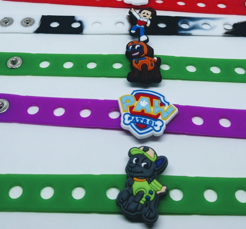 10 Braccialetti personalizzati Paw Patrol in 3D gomma silicone pvc morbido gadgets fine festa a tema compleanno bambini