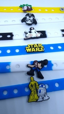 10 Braccialetti personalizzati Star Wars in 3D gomma silicone pvc morbido gadgets fine festa a tema compleanno bambini