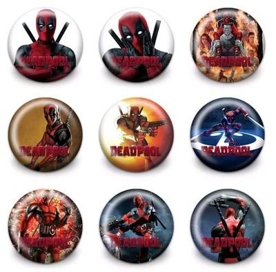 10 Spille 3cm zaino scuola personalizzate Deadpool