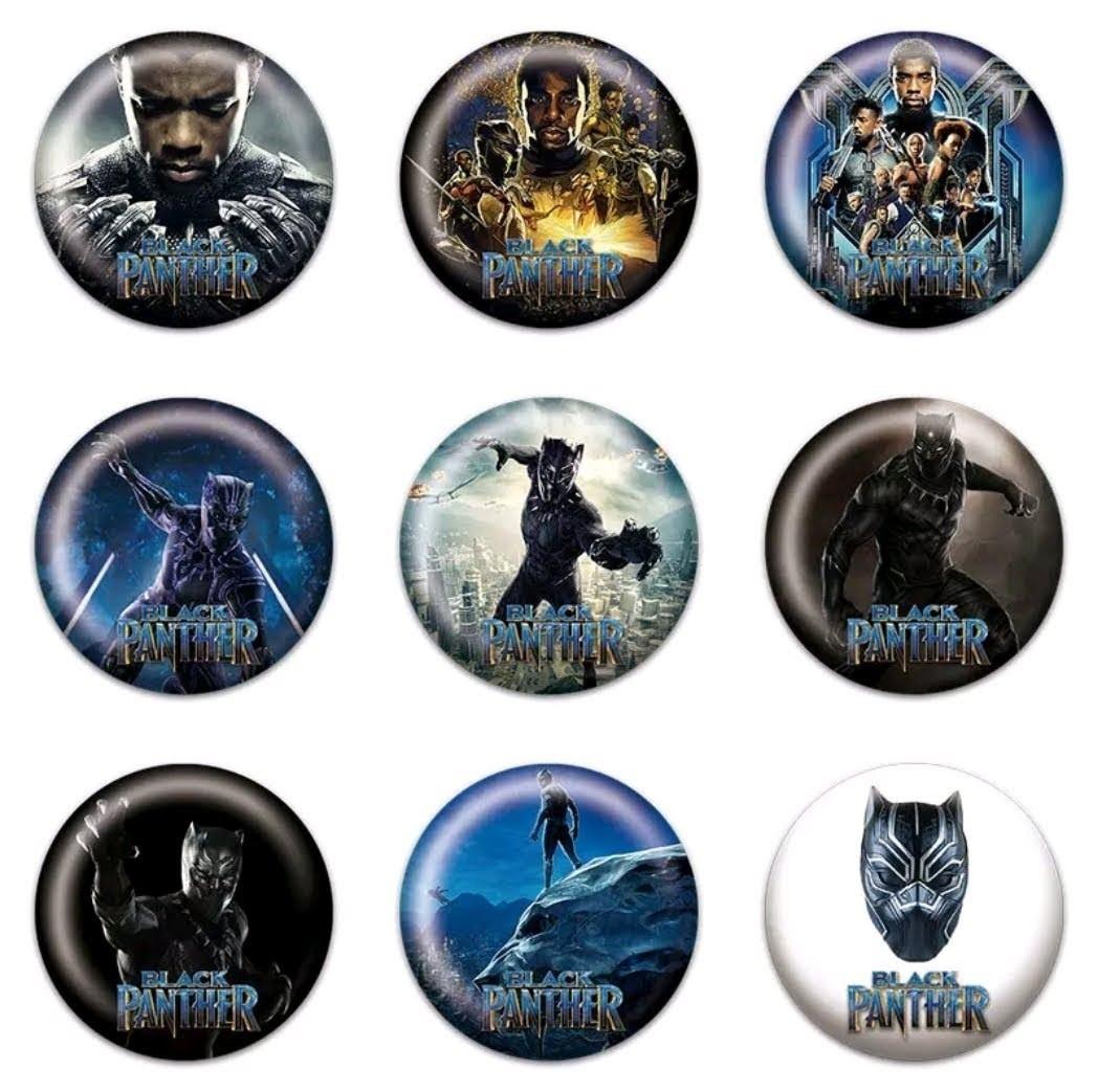 10 Spille 3cm zaino scuola personalizzate Black Panther