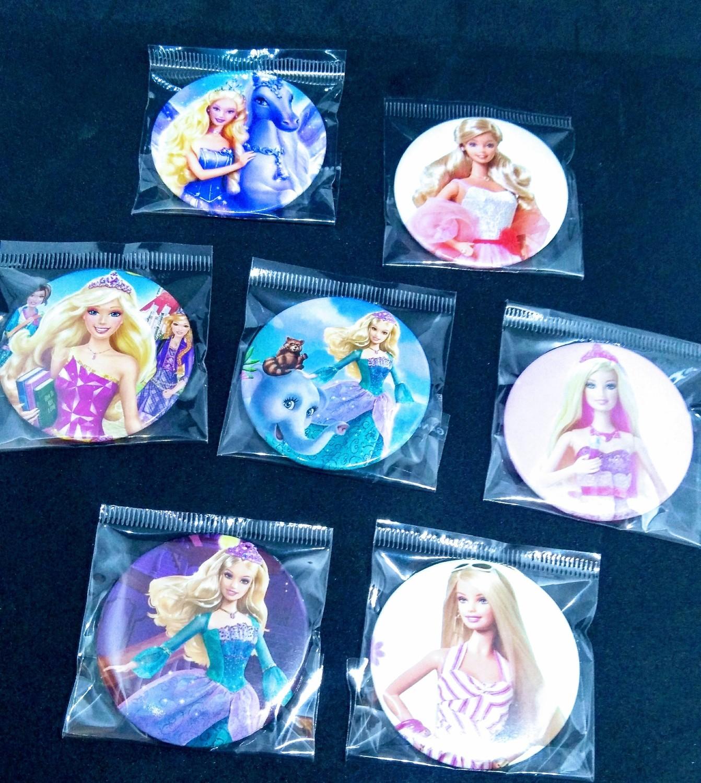 10 GRANDI Spille 4.5cm Barbie Zaino Scuola Pins Badge Buttons