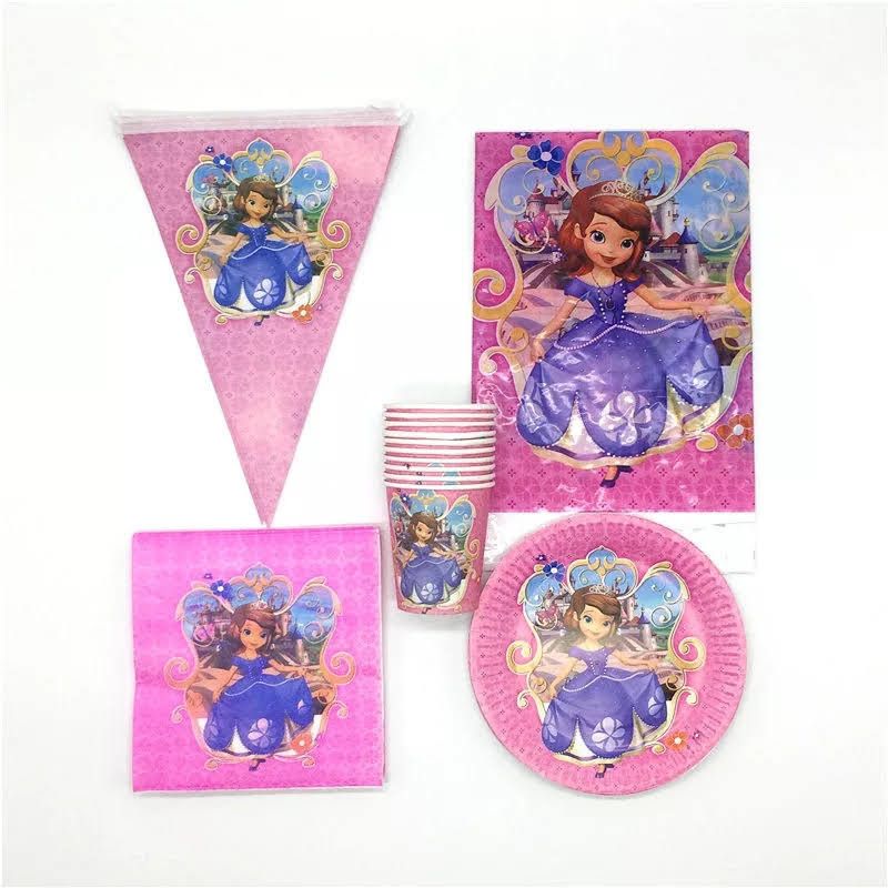 set tavola Sofia piatti bicchieri tovaglioli Tovaglia Festone bandierine addobbi decorazioni festa compleanno