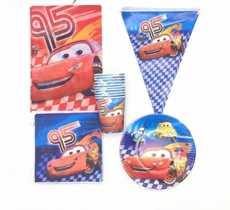set tavola Cars Saetta McQueen piatti bicchieri tovaglioli Tovaglia Festone bandierine addobbi decorazioni festa compleanno