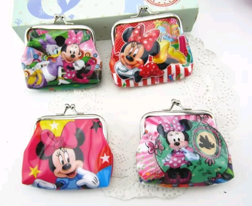 6 portafogli Minnie portamonete gadget a tema fine festa compleanno bambini