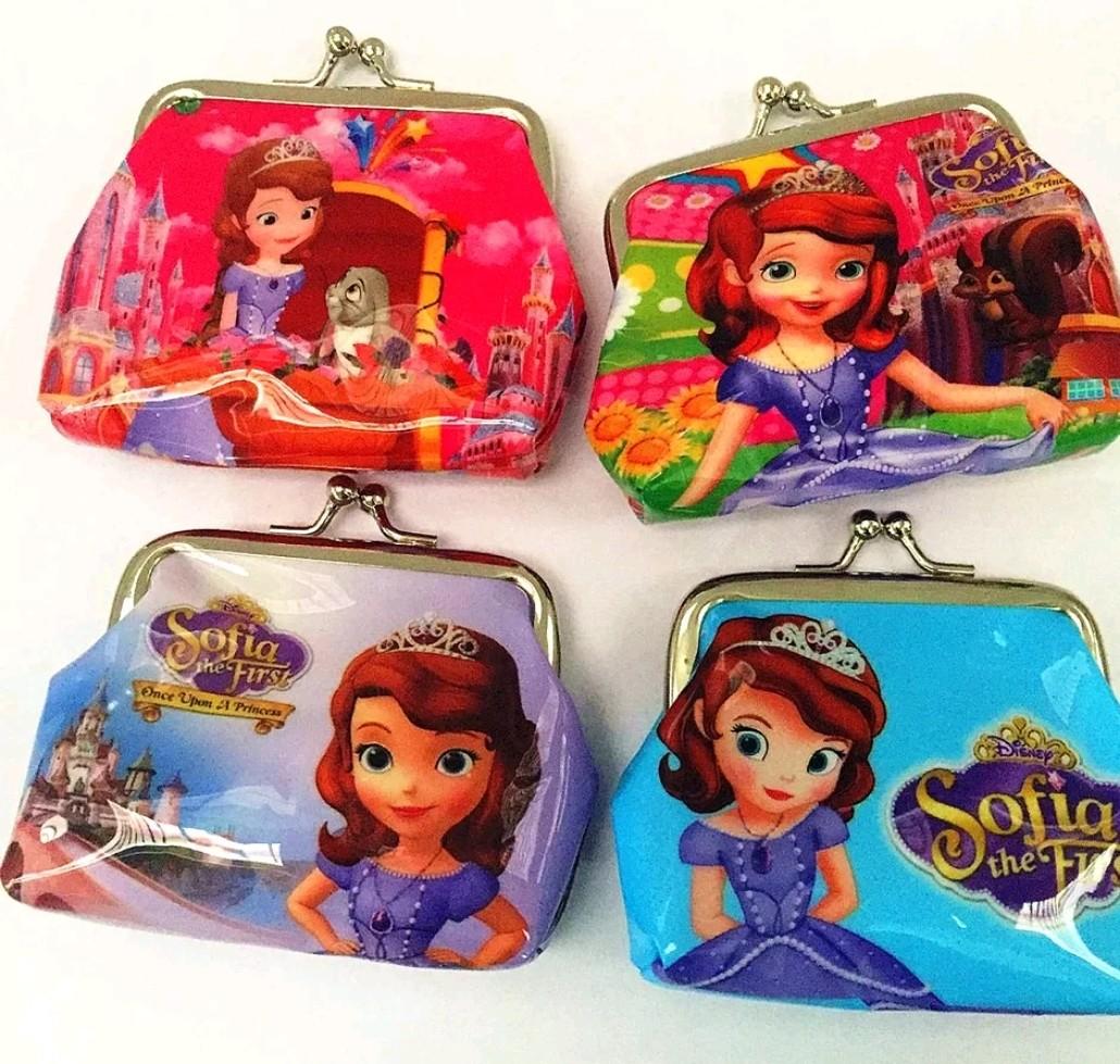 6 portafogli Principessa Sofia portamonete gadget a tema fine festa compleanno bambini