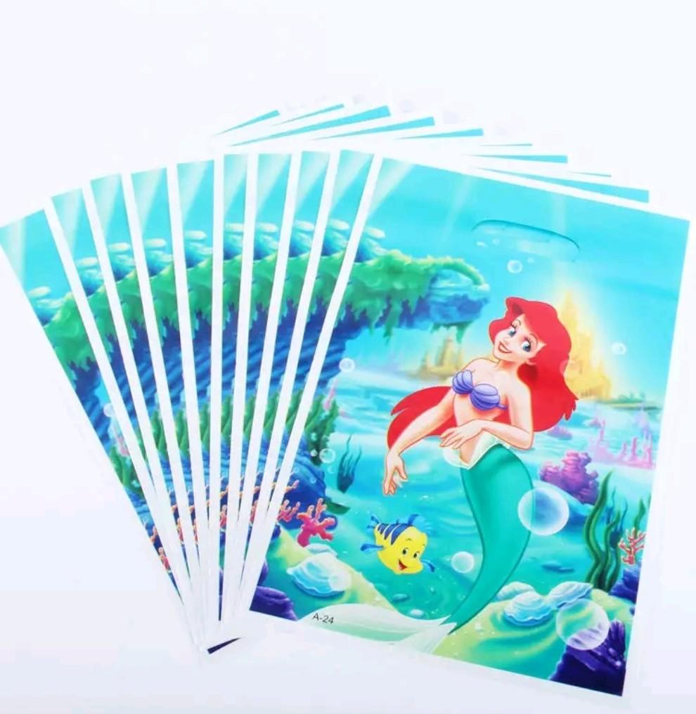 10 bustine Ariel la Sirenetta confezioni regalo