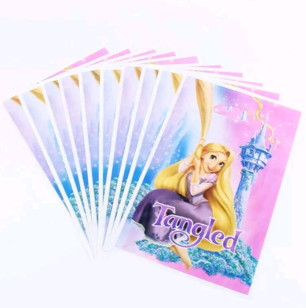 10 bustine principessa Rapunzel confezioni regalo