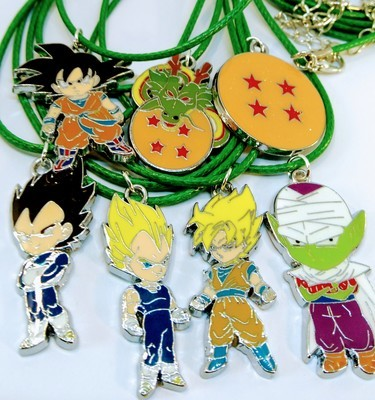 10 Collane Dragon Ball Z Pendente medaglia in acciaio