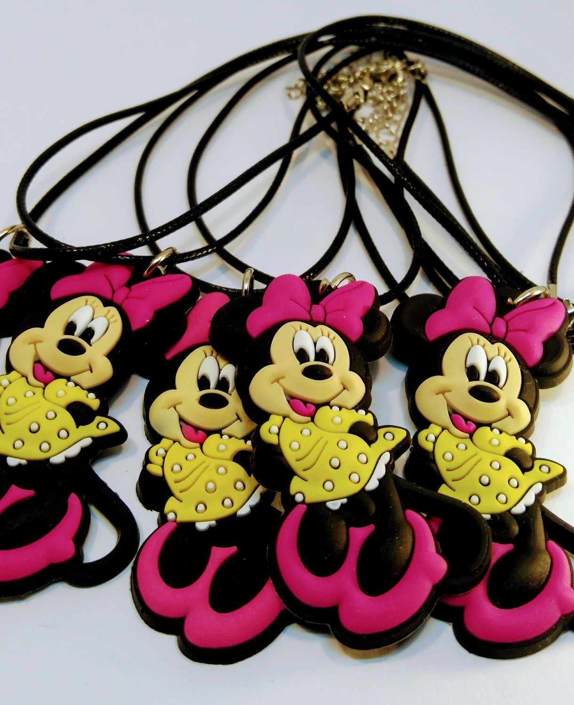 10 Collane Minnie Disney pendente in PVC