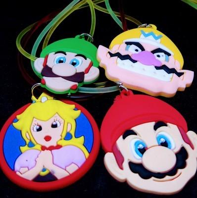 10 Collane Super Mario Bros pendente in PVC