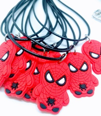 10 Collane Spiderman pendente in PVC