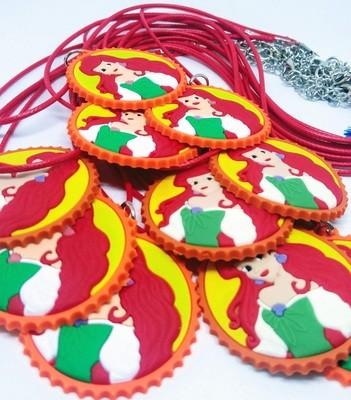 10 Collane Principessa Ariel pendente in PVC
