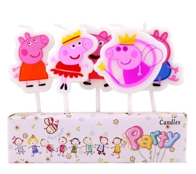 5 candeline Peppa Pig decorazioni torte festa compleanno a tema