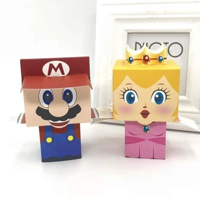 10 Scatoline Super Mario Bros porta regalo Gadgets confetti Caramelle
