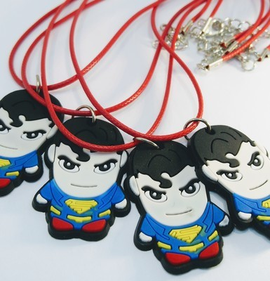 10 Collane Superman pendente in PVC