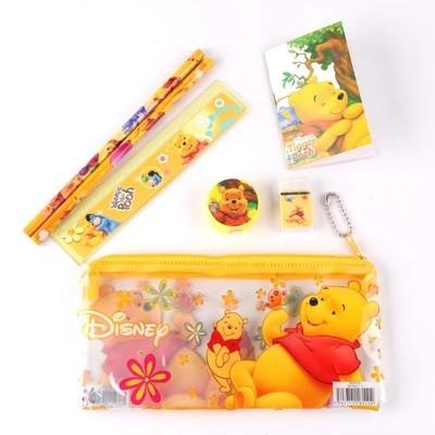 6 Astucci Tombolino scuola Winnie the Pooh matite gomma temperino righello block note