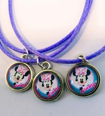 10 Collane a tema Topolina Minnie Disney ciondolo cabochon