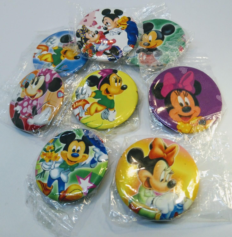 10 Spille 3cm zaino scuola personalizzate Minnie e Topolino Disney