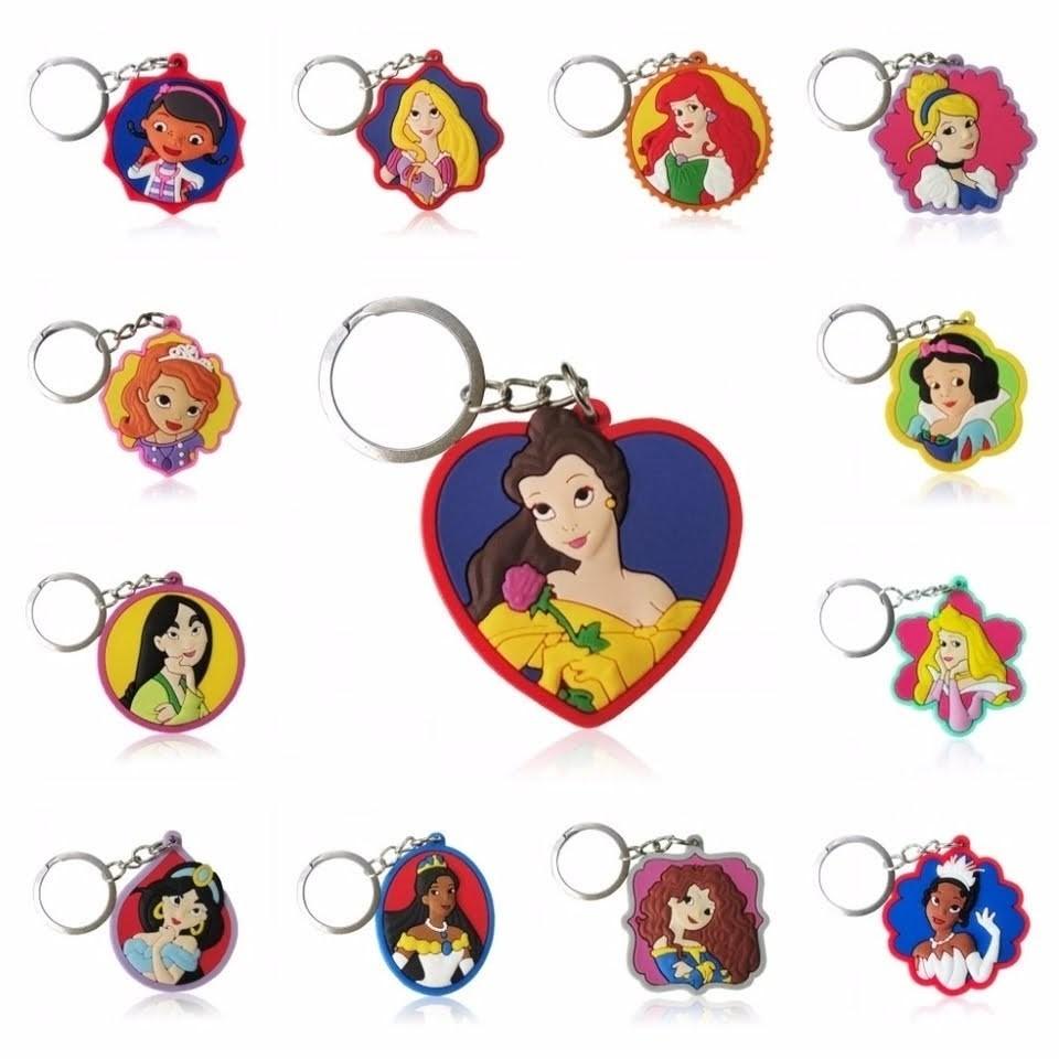 10 portachiavi Principesse Disney chiusura zip lampo zaino scuola