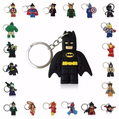 10 portachiavi Lego Movie chiusura zip lampo zaino scuola