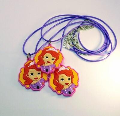 10 Collane Principessa Sofia pendente in PVC