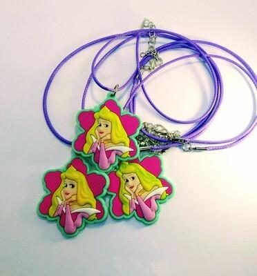 10 Collane Principessa Aurora pendente in PVC