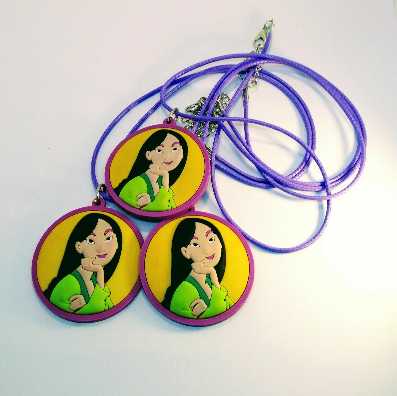 10 Collane Principessa Mulan pendente in PVC