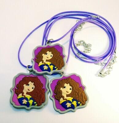 10 Collane Principessa Merida Ribelle pendente in PVC