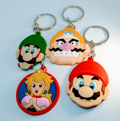 10 portachiavi Super Mario Bros chiusura zip lampo zaino scuola