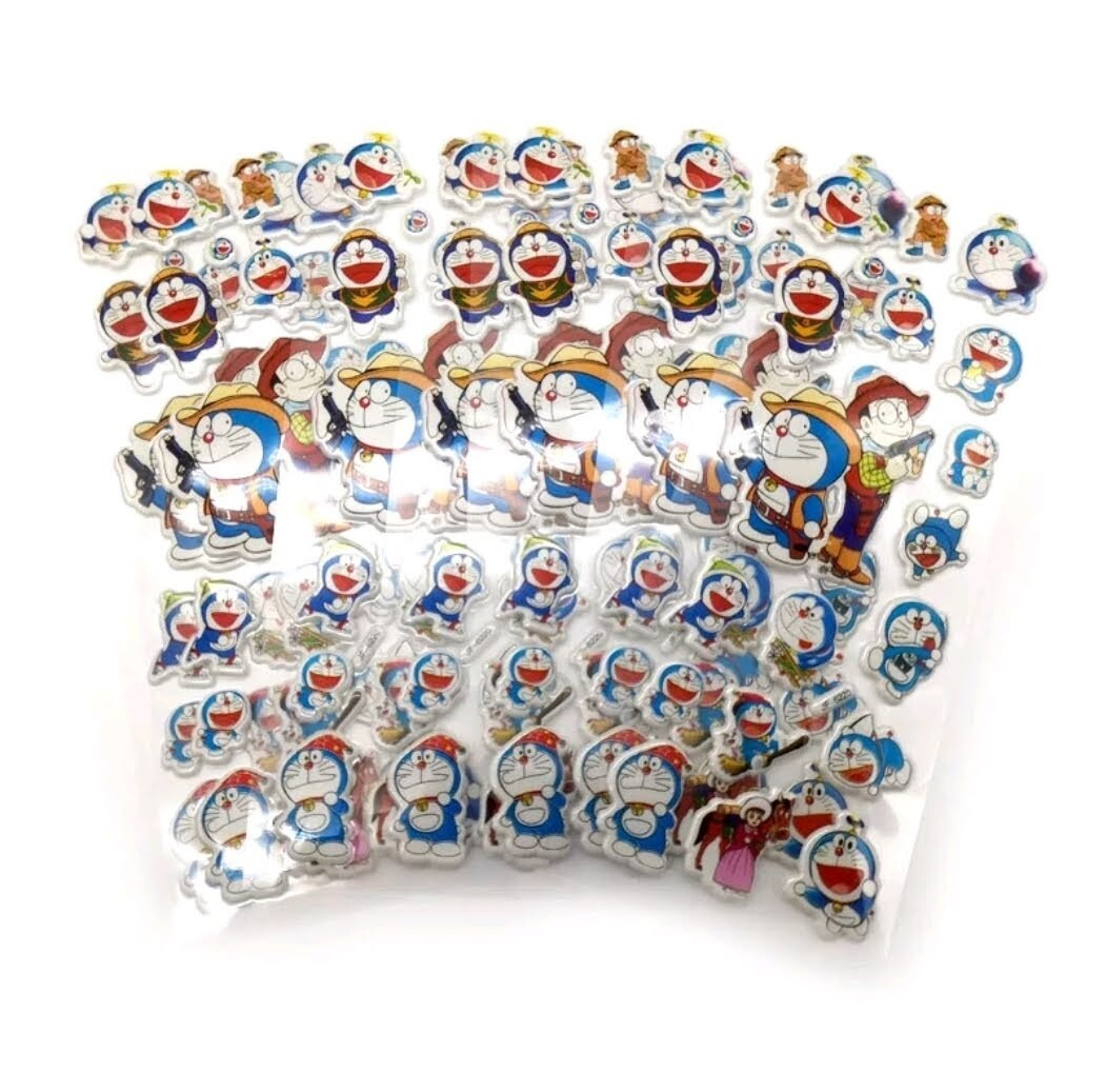30 fogli stickers Adesivi Doraemon