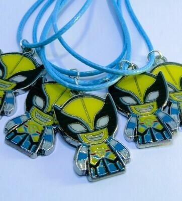 10 Collane X-Men Wolverine Pendente medaglia in acciaio