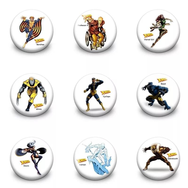 10 Spille 3cm zaino scuola personalizzate X-Men Wolverine