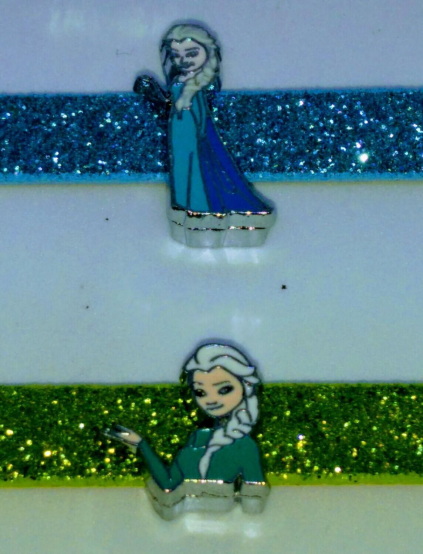 10 Braccialetti Frozen slide glitter charms