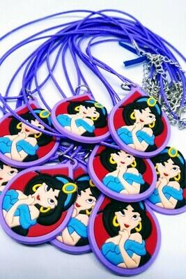 10 Collane Principessa Jasmine Aladdin pendente in PVC