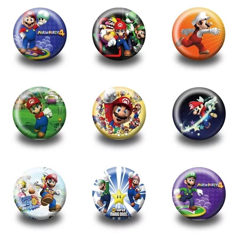 10 Spille 3cm zaino scuola personalizzate Super Mario Bros