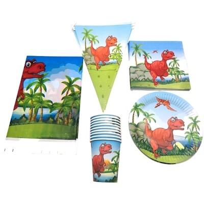 set tavola Dinosauri piatti bicchieri tovaglioli Tovaglia Festone bandierine addobbi decorazioni festa compleanno