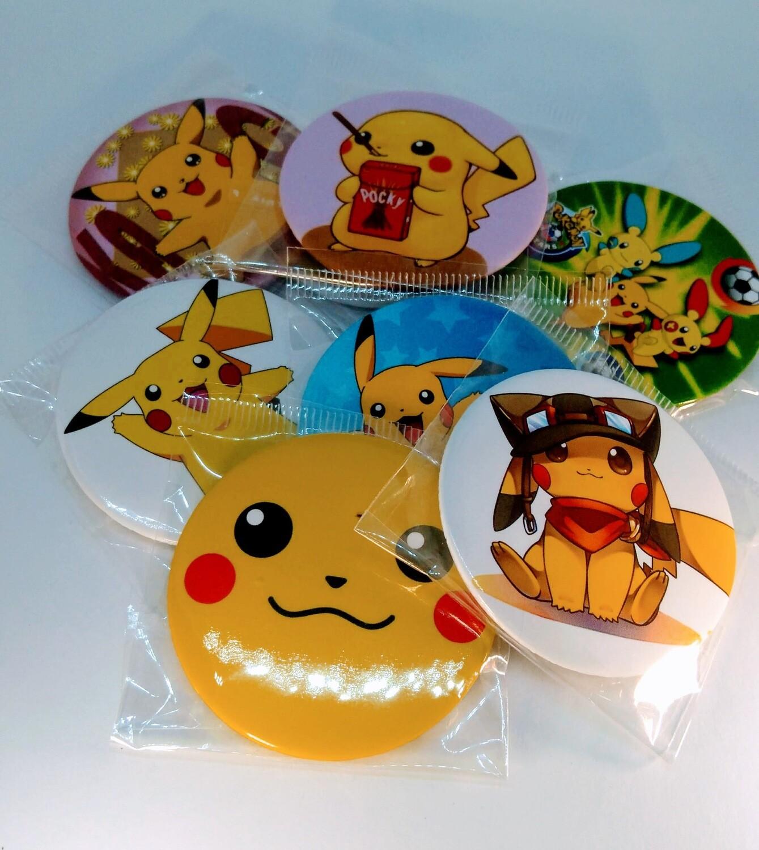 10 GRANDI Spille 4,5cm personalizzate Pokemon Pikachu